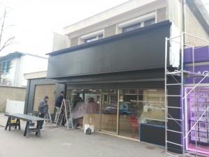 réfection d'une façade de boulangerie
