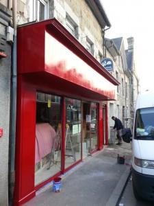peinture façade boulangerie a Brehal